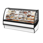 "True TDM-R-77-GE/GE-S-W 77.25"" Full-Service Bakery Case w/ Curved Glass - (4) Levels, 115v"