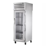 "True STG1HPT-1G-1S 28"" Pass-Thru Heated Cabinet - 1-Glass/1-Solid Door, Stainless/Aluminum"