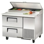 "True TPP-44D-2 44"" Pizza Prep Table w/ Refrigerated Base, 115v"