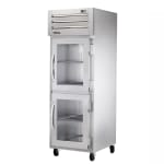 "True STR1H-2HG 28"" Reach-In Heated Cabinet - 2-Glass Half Doors, All Stainless"