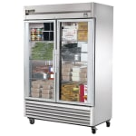 "True TS-49FG-HC~FGD01 54.13"" Two Section Reach-In Freezer, (2) Glass Doors, 115v"