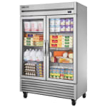 "True TS-49G-HC~FGD01 54"" Two Section Reach-In Refrigerator, (2) Glass Door, 115v"