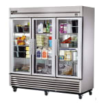 "True TS-72G-HC~FGD01 78"" Three Section Reach-In Refrigerator, (3) Glass Door, 115v"