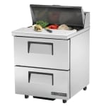 "True TSSU-27-08D-2-ADA-HC 27"" Sandwich/Salad Prep Table w/ Refrigerated Base, 115v"