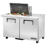 """True TSSU-48-12M-B-HC 48"""" Sandwich/Salad Prep Table w/ Refrigerated Base, 115v"""
