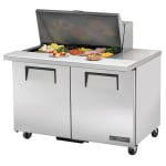 "True TSSU-48-15M-B-HC 48"" Sandwich/Salad Prep Table w/ Refrigerated Base, 115v"