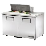 "True TSSU-48-08-ADA-HC 48"" Sandwich/Salad Prep Table w/ Refrigerated Base, 115v"