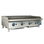 "Globe GCB48G-CR 48"" Countertop Gas Charbroiler w/ Reversible Grates, Radiant"