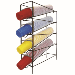 Modular Dispensing Systems 1019971 4-Cup Dispenser, Adjustable to 4-Sizes, Wire, Suction Feet