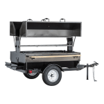 "Big Johns Grills & Rotisseries 6DDG 68"" Towable Charcoal/Wood Commercial Outdoor Grill"