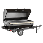 "Big Johns Grills & Rotisseries 6SDG 61"" Towable Charcoal/Wood Commercial Outdoor Grill"