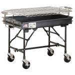 """Big Johns Grills & Rotisseries M-13FB 36"""" Mobile Charcoal Commercial Outdoor Grill w/ Painted Finish"""