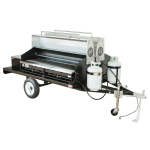 "Big Johns Grills & Rotisseries TRAIL BOSS II 116"" Towable Gas Commercial Outdoor Grill w/ Multiple Heat Zones, LP"