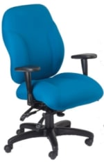 Ergocraft E-89882 Phantom Designer Series Chair w/ 2-Paddle & Waterfall Seat, High Back