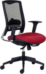 Ergocraft ECO7.5 Eco Series Air Mesh Task Chair w/ Adjustable Lumbar & Polished Aluminum Frame