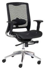 Ergocraft ECO8.8 Eco Series Mesh Task Chair w/ Adjustable Lumbar & Polished Aluminum Frame