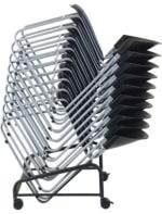 Ergocraft PS-1420-CART Zazz Mobile Chair Cart w/ Front Locking Castors, Stacks 12 High