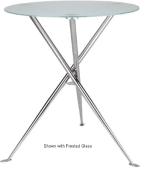 Ergocraft TS-31536-AL Curve Cafe Heights Table w/ Chrome Finish & 3-Intersecting Leg, Alumicast