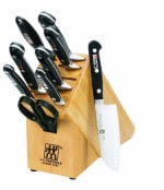 Henckels 35707-000 10-Piece Block Set w/ (7) Knives, Shears & Sharpening Block