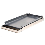 """AllPoints 76-1150 Add-on Griddle Top w/ Removable Grease Tray, Covers 2 Burners, 12x27x3"""""""
