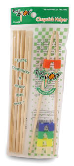 Funchop FC0003EA Set of 5 Bamboo Chopsticks w/ Assorted Colored FunChop Connectors, Each