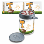 Picnic Time 690-00-000-555-0 Can Cooler - Holds 10-Cans, Folding Handle, Logo