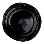 "Elite Global Solutions D101-B 10"" Round Della Terra Plate - Melamine, Black"