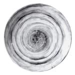 """Elite Global Solutions D9138R 9.5"""" Round Van Gogh Plate - Melamine, Black"""