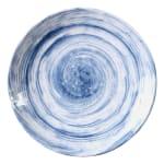 """Elite Global Solutions D9138R 9.5"""" Round Van Gogh Plate - Melamine, Navy"""