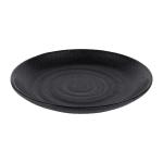 "Elite Global Solutions JW7006 6.25"" Round Zen Plate - Melamine, Black"