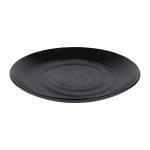 "Elite Global Solutions JW7007 7.75"" Round Zen Plate - Melamine, Black"