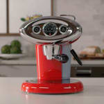 Illy 206606 120V iperEspresso x7.1 Espresso Machine - Red