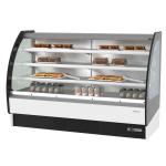 """Infrico IDC-VBR18SS 75.38"""" Self-Service Bakery Case w/ Curved Glass - (4) Levels, 115v"""