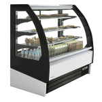 "Infrico IDC-VBR9SS 38.5"" Self-Service Bakery Case w/ Curved Glass - (4) Levels, 115v"