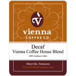 Vienna Coffee WVCHDW-12 12 oz Whole Bean Decaf Coffee, Vienna Coffee House Blend