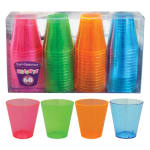 True Brands 1482 2-oz Neon Shot Glasses, Plastic