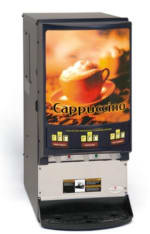 Grindmaster PIC33A 3-Flavor Hot Chocolate/Cappuccino Dispenser w/ (3) 5-lb Hoppers, 120v