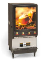 Grindmaster PIC-4 4-Flavor Hot Chocolate/Cappuccino Machine w/ (3) 5-lb & (1) 11.5-lb Hoppers, 120v