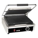 Centaur ABPGM Commercial Panini Press w/ Cast Iron Grooved Plates, 120v