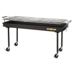 "Crown Verity BM-60 60"" Mobile Charcoal Commercial Outdoor Grill"