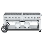 """Crown Verity CCB-72-LP 72"""" Mobile Gas Commercial Outdoor Grill w/ Gas Tank Support, LP"""