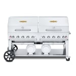 "Crown Verity CCB-72RDP 72"" Mobile Gas Commercial Outdoor Grill w/ Gas Tank Support, LP"