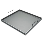 "Crown Verity G2022 Griddle Plate w/ Handles - 21.38"" x 20.5"", Steel"