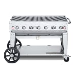 "Crown Verity MCB-48NG 48"" Mobile Gas Commercial Outdoor Charbroiler w/ Water Pan, NG"