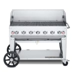 "Crown Verity MCB-48WGP-LP 48"" Mobile Gas Commercial Outdoor Charbroiler w/ Water Pan, LP"