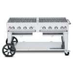 "Crown Verity MCB-60LP 60"" Mobile Gas Commercial Outdoor Charbroiler w/ Water Pan, LP"