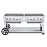 "Crown Verity MCB-72NG 72"" Mobile Gas Commercial Outdoor Charbroiler w/ Water Pan, NG"