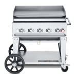 """Crown Verity MG-36NG 36"""" Mobile Gas Commercial Outdoor Griddle, NG"""