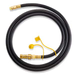 """Crown Verity NGH075 3/4"""" Natural Gas Hose w/ Quick Disconnect for MCB-60 & MCB-72, 10-ft"""