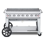 "Crown Verity CV-RCB-48-LP 48"" Mobile Gas Commercial Outdoor Grill w/ Water Pans, LP"